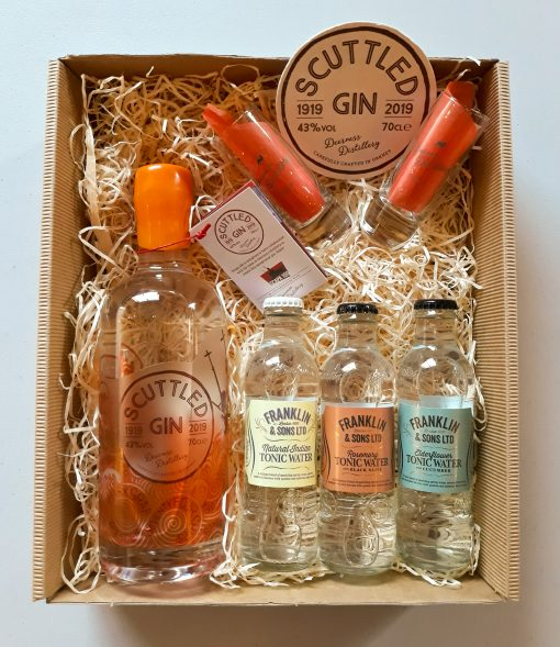 Luxury Scottish 70cl Scuttled Gin & Tonic Hamper