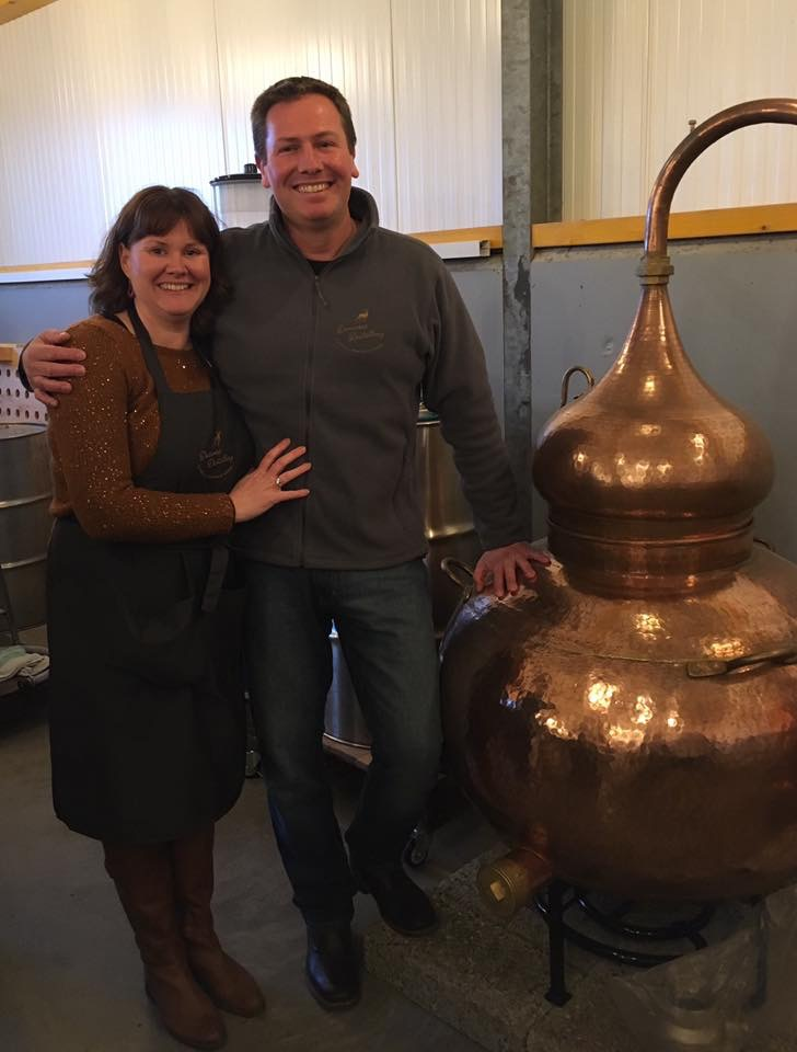 Stuart and Adelle Brown of Deerness Distillery