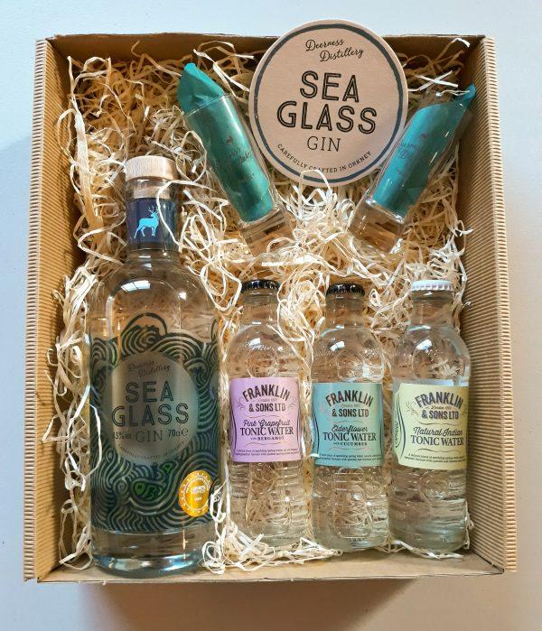 Luxury Scottish 70cl Sea Glass Gin & Tonic Hamper